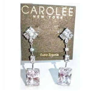 CAROLEE New York Cubic Zirconia Pierced Earrings